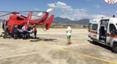 Αεροδιακομιδή δύο παιδιών που τραυματίστηκαν σε τροχαίο στη Χαλκιδική
