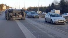 Θεσσαλονίκη: Δύο τροχαία ατυχήματα, μία ανατροπή και μία καραμπόλα πέντε οχημάτων στην Περιφερειακή Οδό